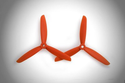 GEMFAN Trebladig 5045 Nylon/glasf 2par H/V Orange
